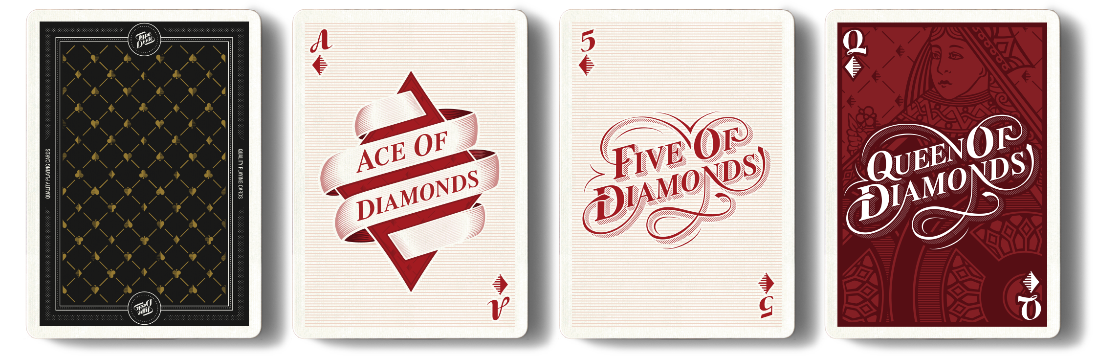 TYPOGRAPHY - The Type Deck - Quality Typographic Playing Cards